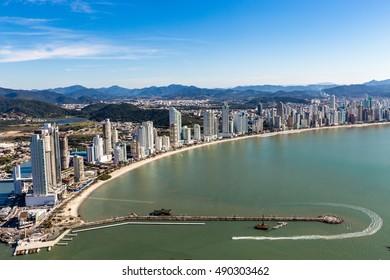 City View of Balneario Camboriu beach. Santa Catarina, Brazil.