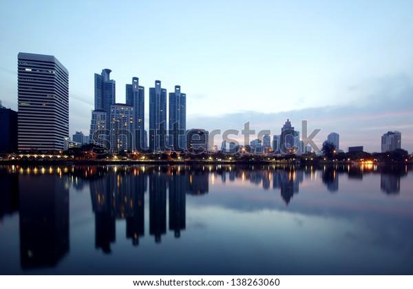 The city view of Bangkok, Thailand