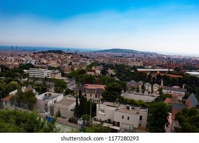 City view of Barcelona from Mt. Tibidabo
