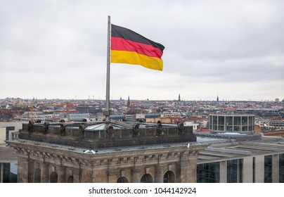 City view of Berlin from top of the Reichstag Building, Germany