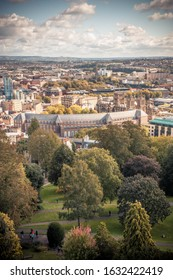 City view from Cabot tower in Bristol, UK