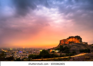 City view of Jodhpur with Mehrangarh Fort