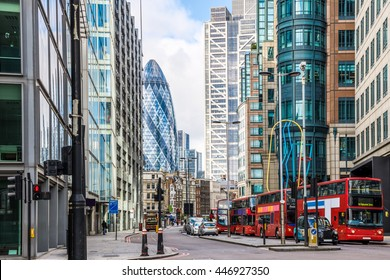 City View of London around Liverpool Street station