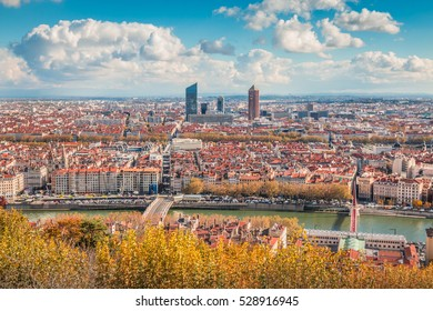 City view of Lyon France