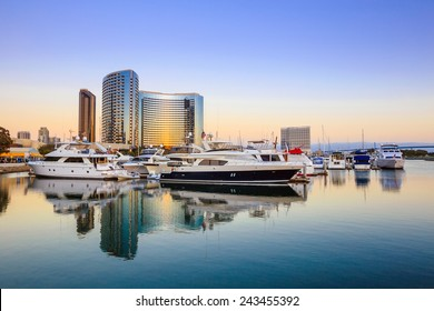 City View with Marina Bay at San Diego, California USA
