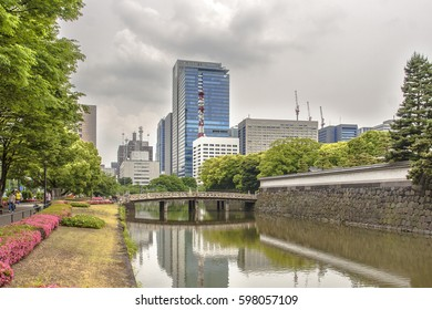city view near the Imperial Palace in Tokyo Japan