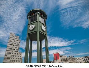CIty view of Potsdamer Platz in Berlin during summer - Shutterstock ID 1677674362