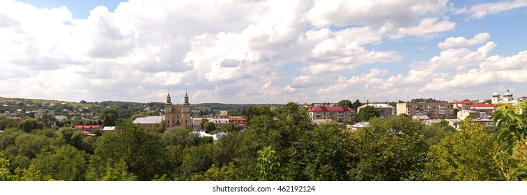 City view of small town Zbarazh, Ternopil region, West Ukraine (panorama).