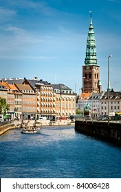 City view from the town center of Copenhagen, Denmark