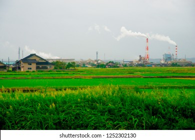 City view of Toyama, Japan. Toyama is one of the important cities in Japan for cultures and business markets.