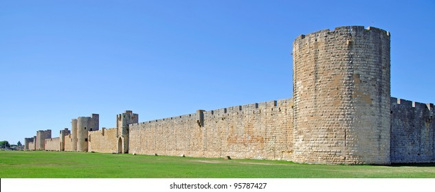 the City Wall of Aigues-Mortes,Camargue,France