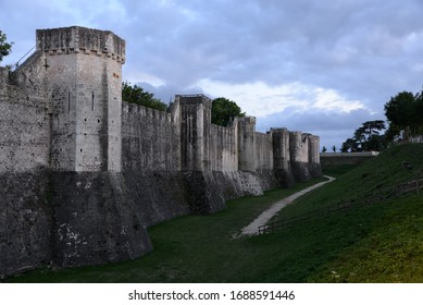 City wall and defence tower in Provins, France