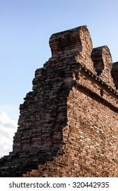 City wall. old wall. tourist attraction Nakhon Si Thammarat Thailand.
