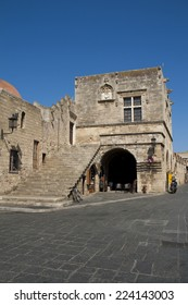 City wall in Rhodes, Greece