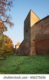 City walls in Trnava. Slovakia