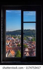 City from window