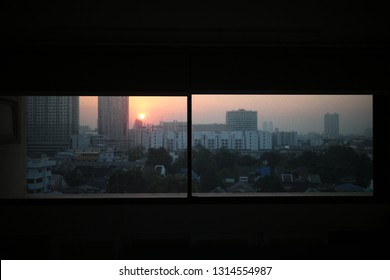 city in the window