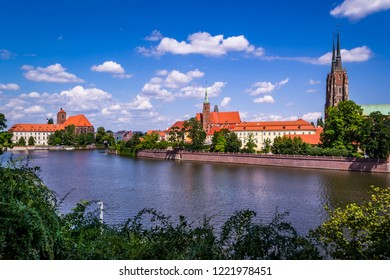 City of Wroclaw in a sunny summer, Poland