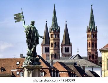 City of Wuerzburg, Bavaria, Germany