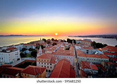 City of Zadar skyline sunset view, Dalmatia, Croatia