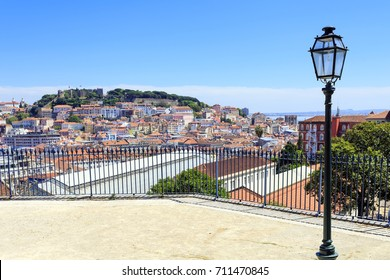 cityiew to the S. Gorge castle in Lisbon