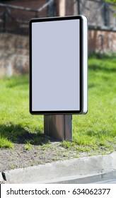 Citylight. Vertical billboard. Blank template