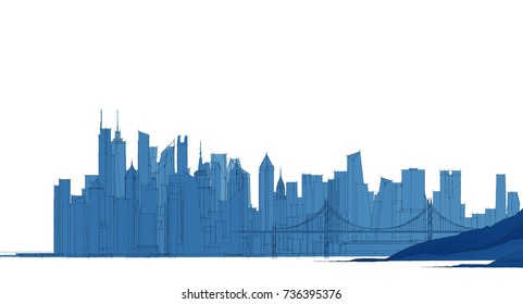cityscape,  3d illustration
