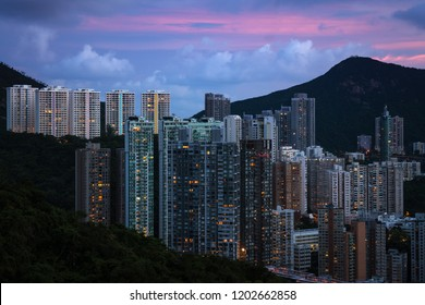 CItyscape after sunset at the twilight time