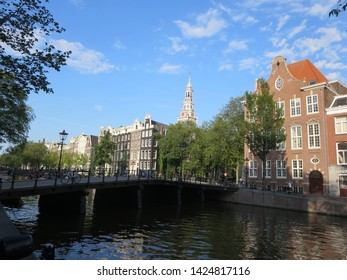 The cityscape of Amsterdam (Netherlands)