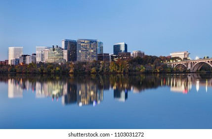 Cityscape of Arlington County, Virginia, the second largest principal city of the Washington DC Metropolitan Area.