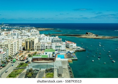 Cityscape of Arrecife, the capital city of Lanzarote island, Spain