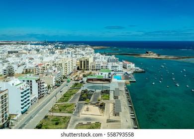 Cityscape of Arrecife, the capital city of Lanzarote island, Spain
