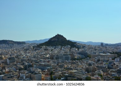 Cityscape of Athens from the Parthenon on a summers day