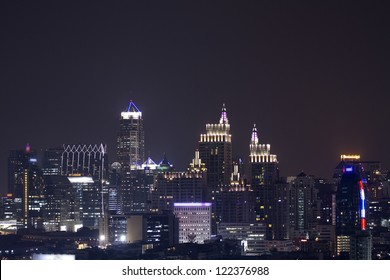 Cityscape  in Bangkok, Thailand