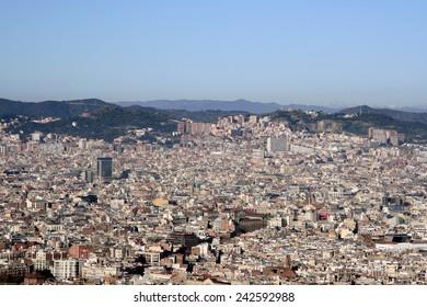 Cityscape of Barcelona, Spain.