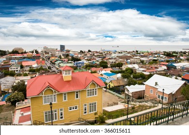 Cityscape of a Beautiful city. Punta Arenas, Chile