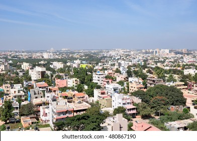 Cityscape of Bengaluru, India.