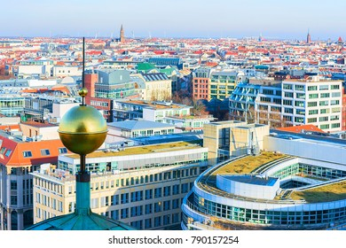 Cityscape of Berlin with Steeple of Berliner Dom Cathedral, Germany