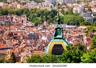 Cityscape of Besancon with St. Jean Cathedral dome