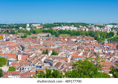 Cityscape of Besancon in a sunny summer day