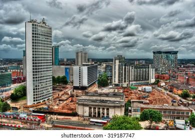 Cityscape of Birmingham, HDR-technique