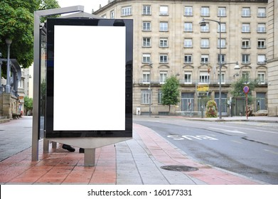 Cityscape blank billboard for the user to modify. Advertising in blank