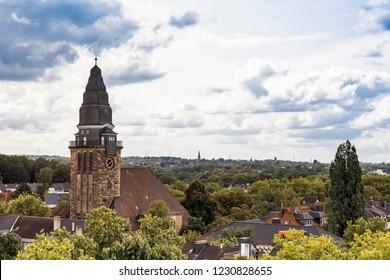 Cityscape of Bochum with Melanchthonkirche – Bochum, NRW, Germany, Europe