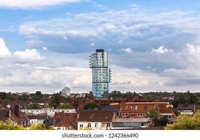 Cityscape of Bochum with modern skyscraper