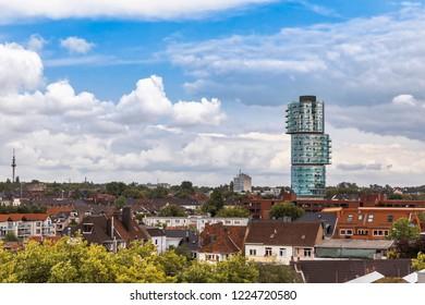 Cityscape of Bochum with modern skyscraper – Bochum, NRW, Germany, Europe