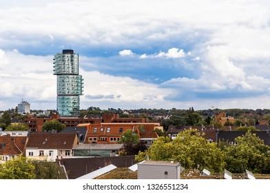 Cityscape of Bochum with modern skyscraper – NRW, Germany, Europe