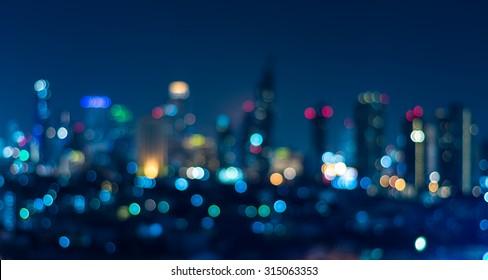 Cityscape bokeh, Blurred Photo, cityscape at twilight time