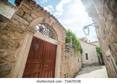 Cityscape of Budva. Montenegro. Old town