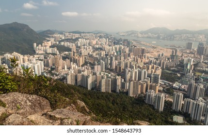 Cityscape of buildings in Hong Kong