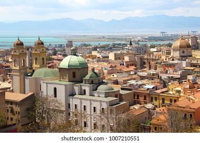 Cityscape of Cagliari, Sardinia, Italy